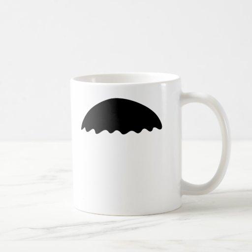 Tazas divertidas del bigote del negro del estilo