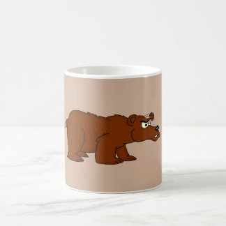 Tazas enojadas del diseño del oso marrón