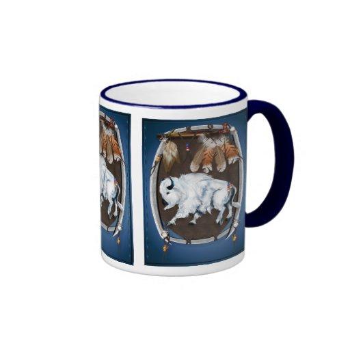 Tazas Escudo-azules del búfalo blanco
