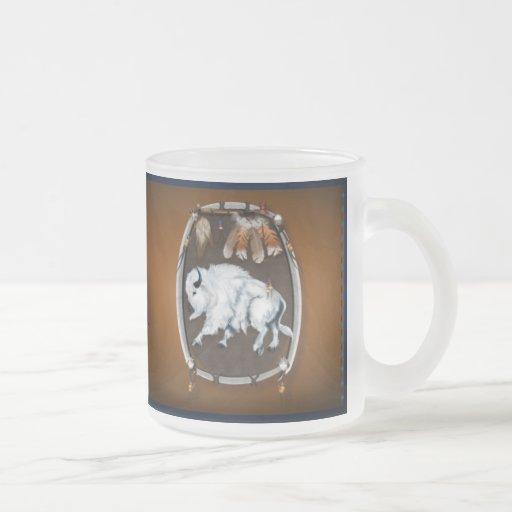 Tazas Escudo-marrones del búfalo blanco