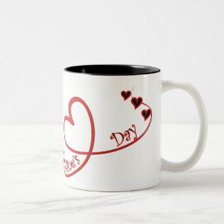 Tazas felices de la foto del el día de San Valentí