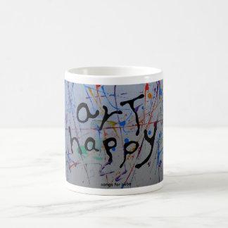 """tazas felices del cofffee del """"arte"""""""