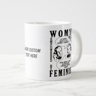 Tazas feministas retras del humor taza grande