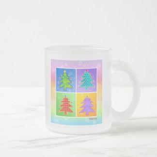 Tazas heladas - árboles de navidad del arte pop