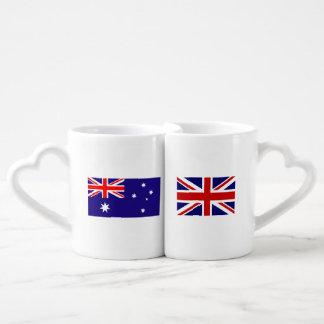 Tazas interculturales de los amantes de la bandera taza amorosa