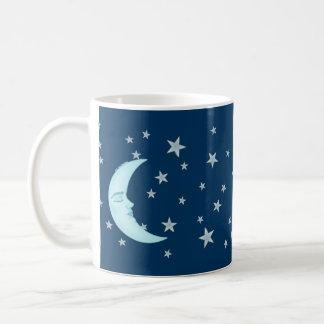 Tazas lindas de la luna el dormir