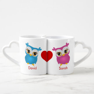 Tazas lindas de los amantes de los pares de los taza para parejas