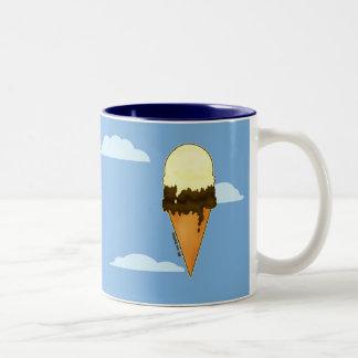 Tazas lindas del helado