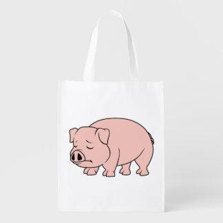 Tazas nacionales gritadoras del día del cerdo del bolsas reutilizables