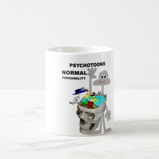Tazas normales de la personalidad de Psychotoons