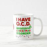 Tazas obsesivas del desorden del navidad de OCD