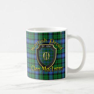 Tazas orgullosas escocesas de las tazas de
