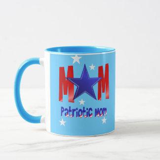 Tazas patrióticas de una mamá de la estrella azul