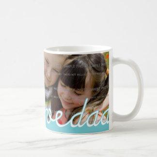 Tazas personalizadas azules del día de padre con
