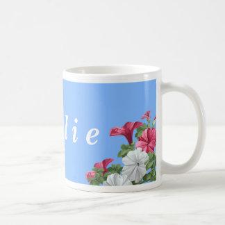 Tazas personalizadas de la flor - petunias