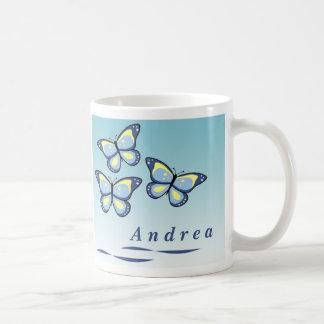 Tazas personalizadas de la mariposa