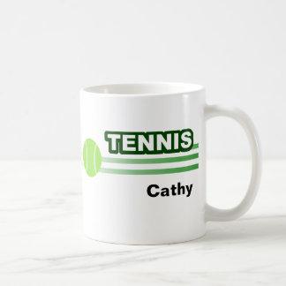 Tazas personalizadas del tenis