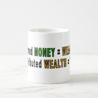 Tazas redistribuidas de la riqueza