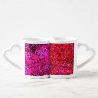 Tazas rojas y rosadas brillantes de Lover´s de los Taza Para Enamorados