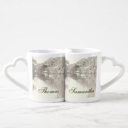 Tazas románticas de los amantes de la pasarela taza para enamorados
