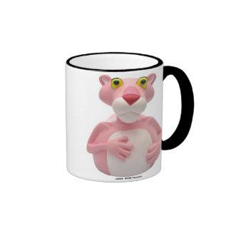 Tazas rosadas de la pantera por CelebriDucks.com