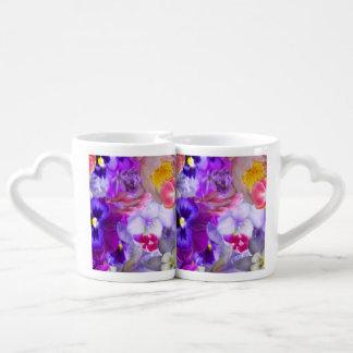 Tazas rotatorias de los amantes del jardín taza para parejas