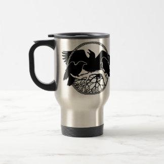 Tazas salvajes del cuervo de la taza del viaje del