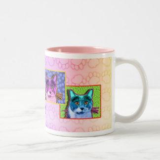 Tazas - taza del gato del arte pop