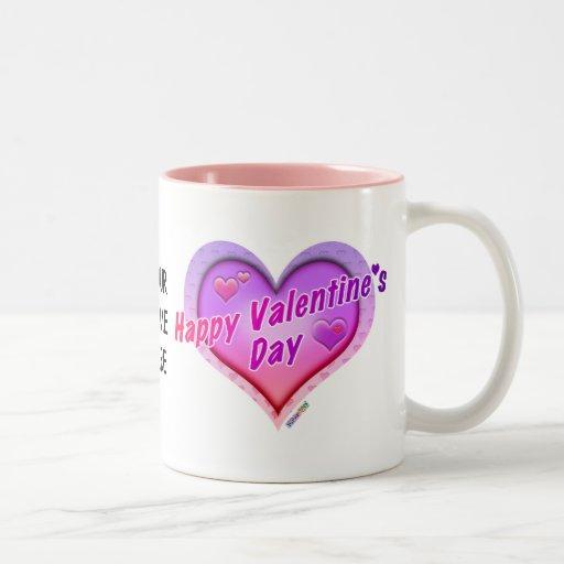 TAZAS, TAZAS - el día de San Valentín feliz
