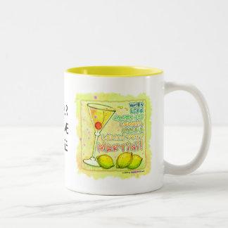 Tazas, tazas - gota de limón Martini