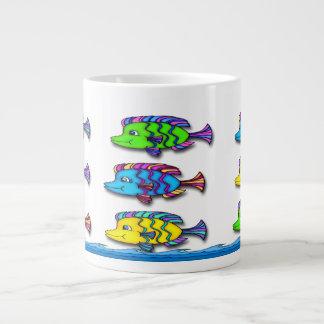 Tazas tropicales de la especialidad de los pescado tazas jumbo