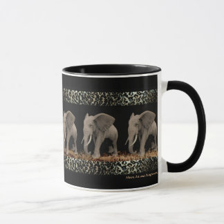Tazas y Drinkware de los elefantes que marchan