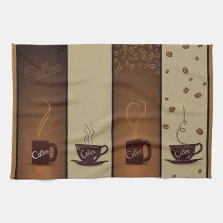 Tazas y habas de café toalla de cocina