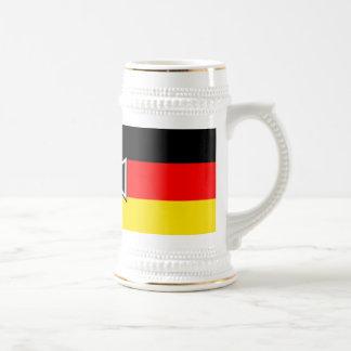 Tazas y Steins alemanes de la bandera de la cruz