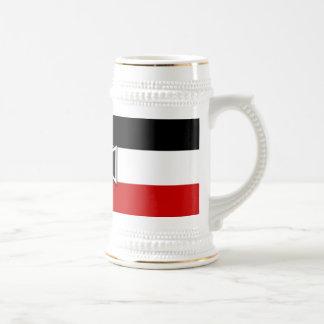 Tazas y Steins prusianos de la bandera