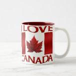 Tazas y tazas de Canadá de la taza de café del rec