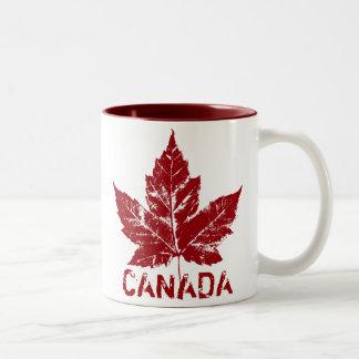 Tazas y tazas frescas de Canadá de la taza de café