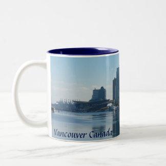 Tazas y vidrios de las tazas de café de Vancouver