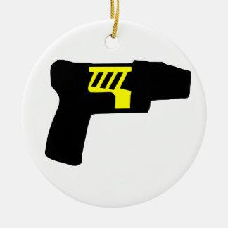 Tazer Gun Ceramic Ornament