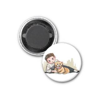 tazer & puppy magnet