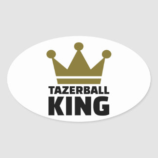 Tazerball king oval sticker