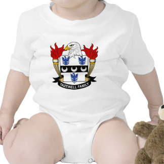 Tazewell Family Crest Baby Bodysuits