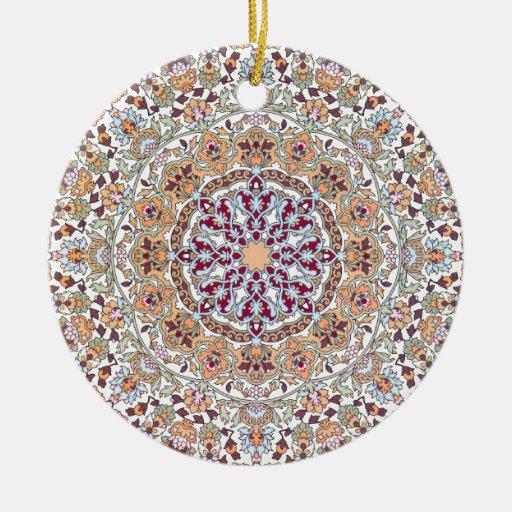 Tazhib decorado del arte persa, mandala persa adorno redondo de cerámica