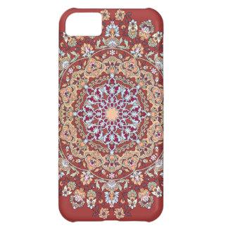 Tazhib del arte persa con fondo rojo mandala carcasa para iPhone 5C