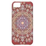 Tazhib del arte persa con fondo rojo mandala funda para iPhone 5C