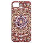 Tazhib del arte persa con fondo rojo mandala iPhone 5 fundas