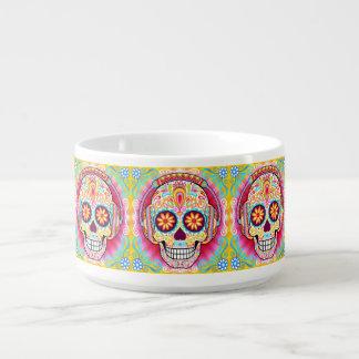 Tazón del cráneo del azúcar - día del arte muerto