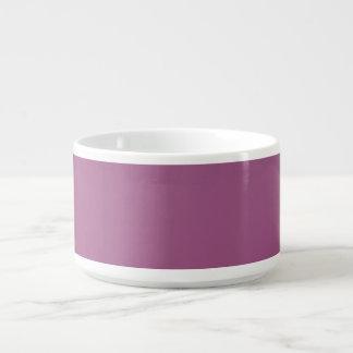Tazón púrpura de color de malva