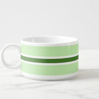 Tazón verde de la raya
