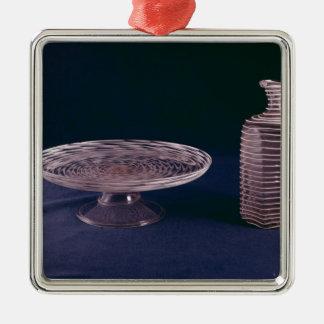 Tazza del latticinio de Facon de Venise Adorno Cuadrado Plateado